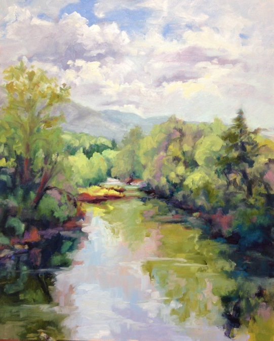The Cowpasture River in Oil on Canvas by Nan Mahone Wellborn